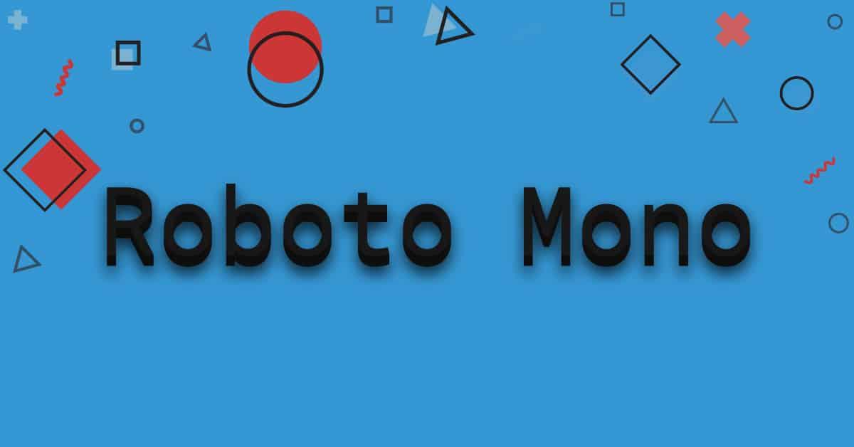Roboto-mono